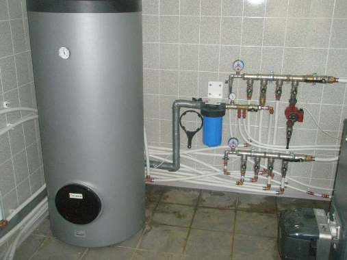 Монтаж напольного водонагревателя