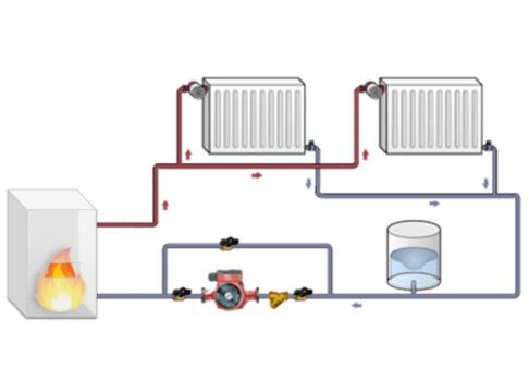 Схема парового отопления