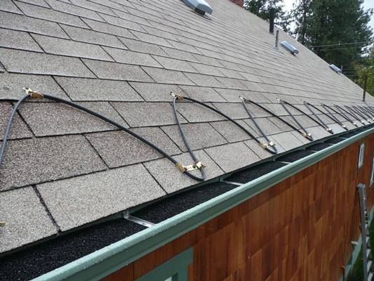 Обогрев скатной крыши