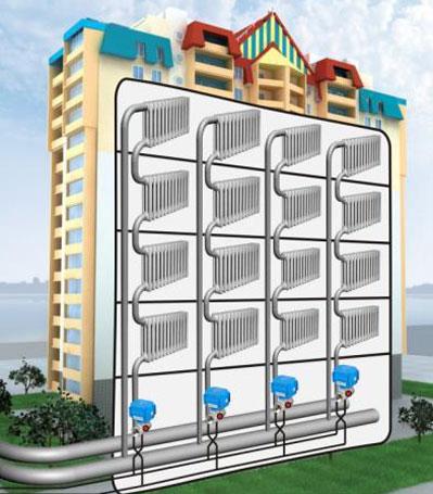 Отопления многоэтажного дома